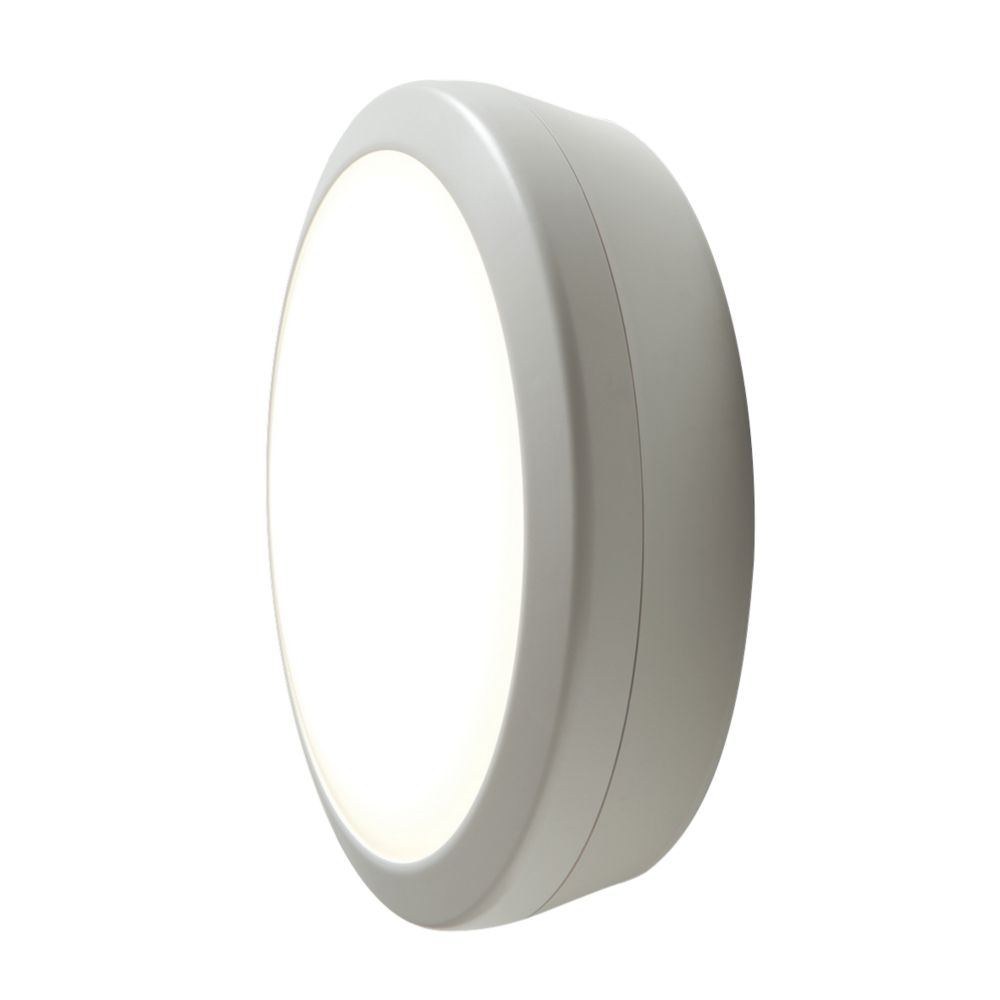 Image of Luceco Atlas LED Microwave Round Bulkhead White 18W