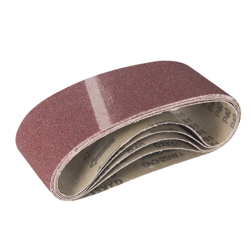 Image of Triton Alox Sanding Belts Unpunched 76 x 533mm 40 Grit 5 Pack