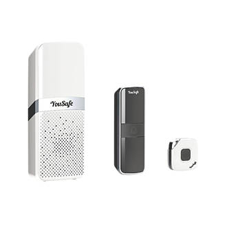 Image of YouSafe CallerAlert 128m Wireless Remote Door Chime Kit White
