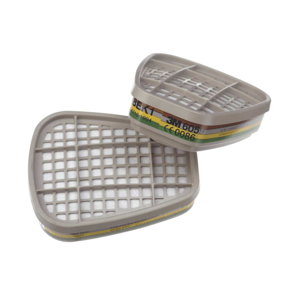 Image of 3M 6059 Reusable Respiratory Filters ABEK1 2 Pack