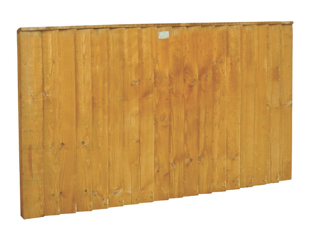 Image of Forest Feather Edge Fence Panels 1.82 x 0.9m 9 Pack