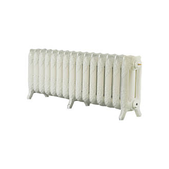 Image of Arroll 3-Column Cast Iron Radiator 470 x 1234mm Cream