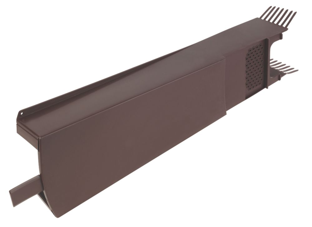 Image of Glidevale Brown Universal Dry Verge Tile Units 10 Pack
