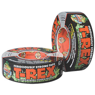 Image of T-Rex Ferociously Strong Cloth Tape Mesh Graphite Grey 11m x 48mm