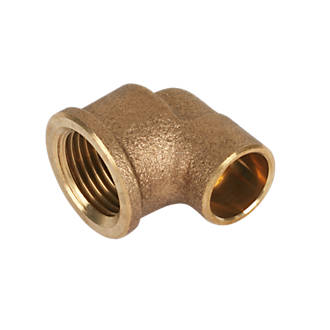 Image of Endex Brass End Feed Adapting 90° Female Elbow 15mm x ½""