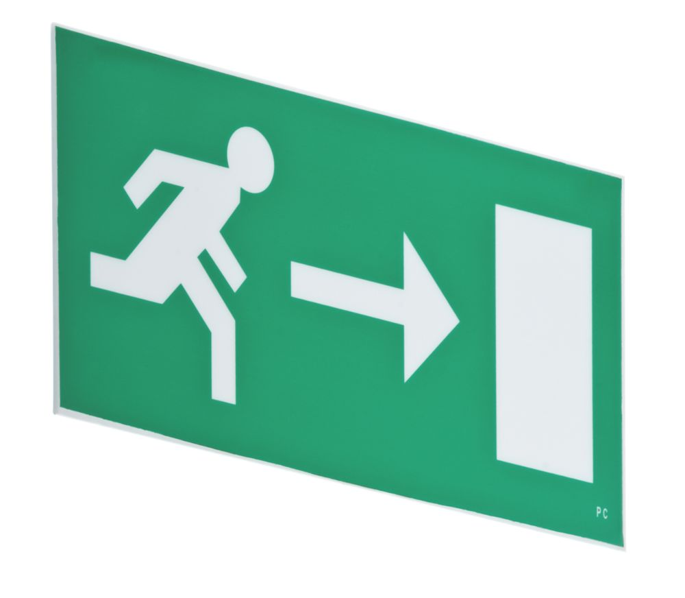 Image of LAP Emergency Lighting Hanging Exit Right Sign