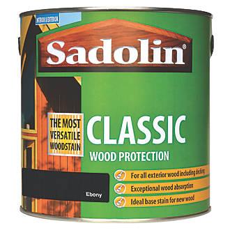 Image of Sadolin Classic Woodstain Matt Ebony 2.5Ltr