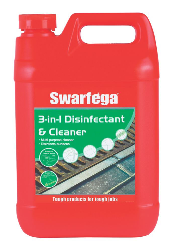 Image of Swarfega 3-in-1 Disinfectant & Cleaner 5Ltr