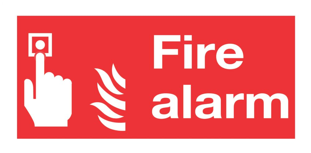"""Image of Fire Alarm"""" Signs 100 x 200mm 50 Pack"""