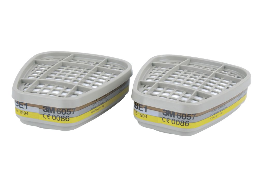 Image of 3M 6057 Reusable Respiratory Filters A1B1E1 2 Pack