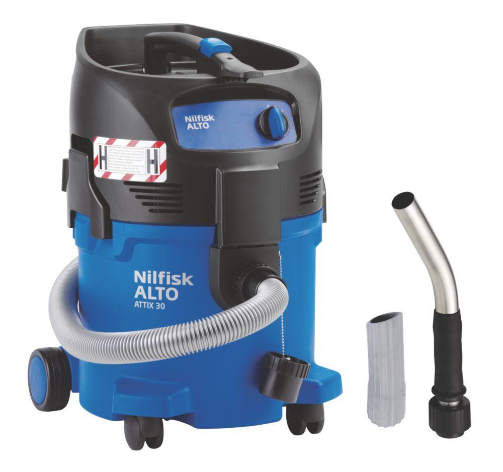 Image of Nilfisk Attix 30-0H PC 1200W 30Ltr H Class Hazardous Dusts Vac Cleaner 240V