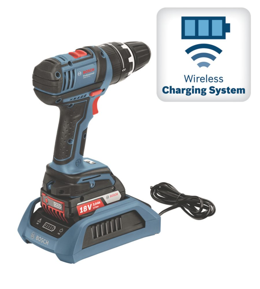 Image of Bosch GSB 18V-LI 18V 2.0Ah Li-Ion Wireless Charging Combi Drill