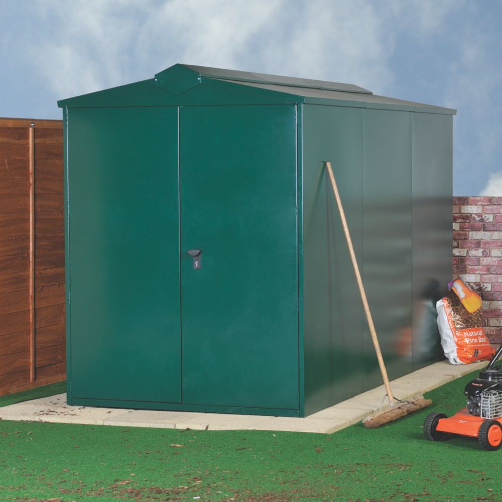 Image of Asgard Centurion All-Metal Bike Store with Assembly Green 1.6 x 2.2m