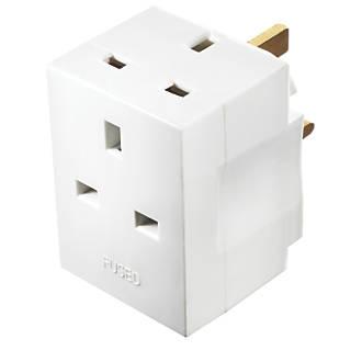 Image of Masterplug 13A Fused 3-Way Plug Adaptor