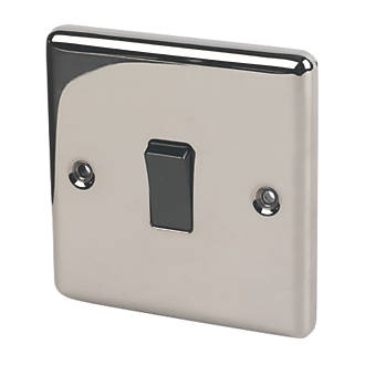 Image of LAP 10AX 1-Gang 2-Way Light Switch Black Nickel with Colour-Matched Inserts