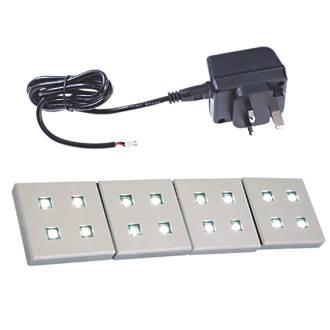 Sensio Fyra LED Plinth Lights Kit Aluminium 4 Pack