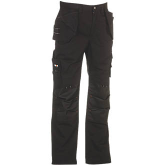 "Image of Herock Dagan Work Trousers Black 30"" W 32/34"" L"