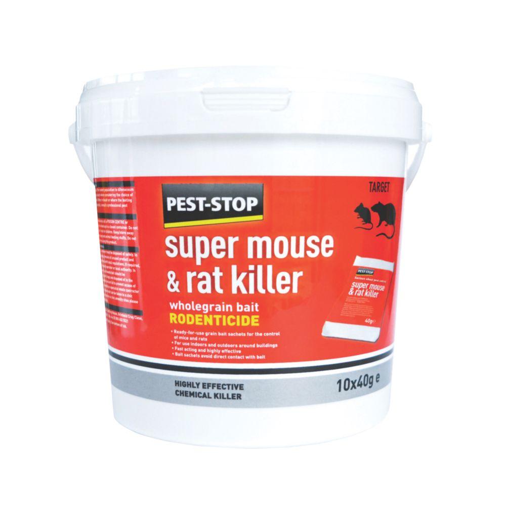 Image of Pest-Stop Super Mouse & Rat Killer 10 x 40g 10 Pack