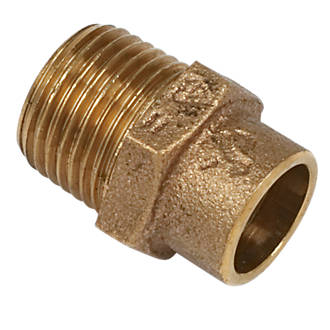 """Image of Yorkshire Brass Solder Ring Adapting Male Coupler 15mm x ½"""""""