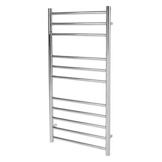 Image of Reina Luna Flat Ladder Towel Radiator 1200 x 350mm Stainless Steel