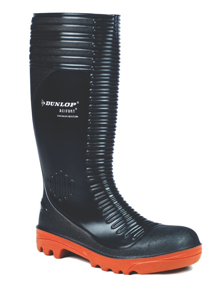 Image of Dunlop Safety Footwear Acifort A252931 Safety Wellingtons Black Size 12