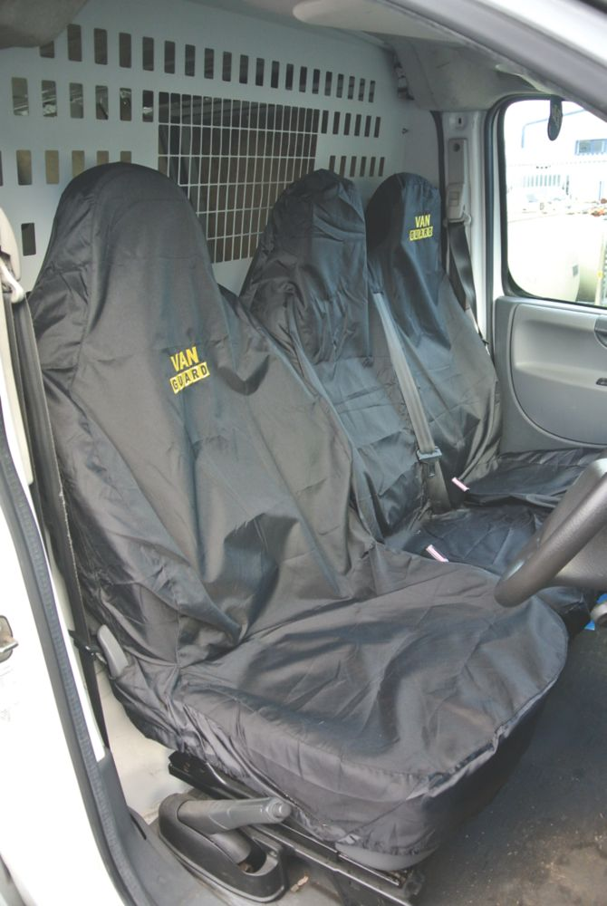 Image of Van Guard Universal Single & Double-Seat Covers Black 2 Pcs