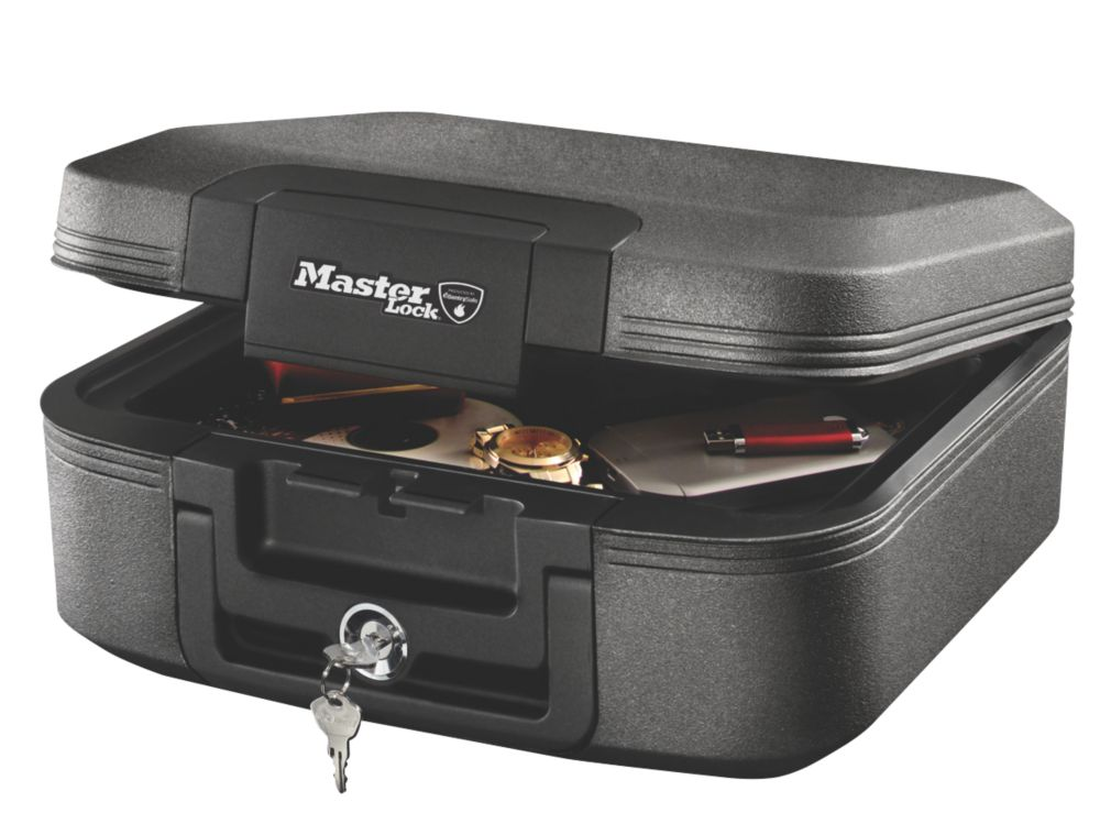 Image of Master Lock 7.8Ltr Waterproof Fire Chest 391 x 363 x 168mm