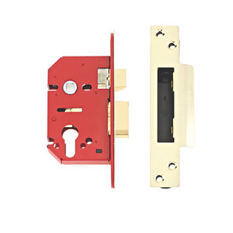 Image of Union Brass Euro Profile Mortice Lock 68mm Case - 45mm Backset