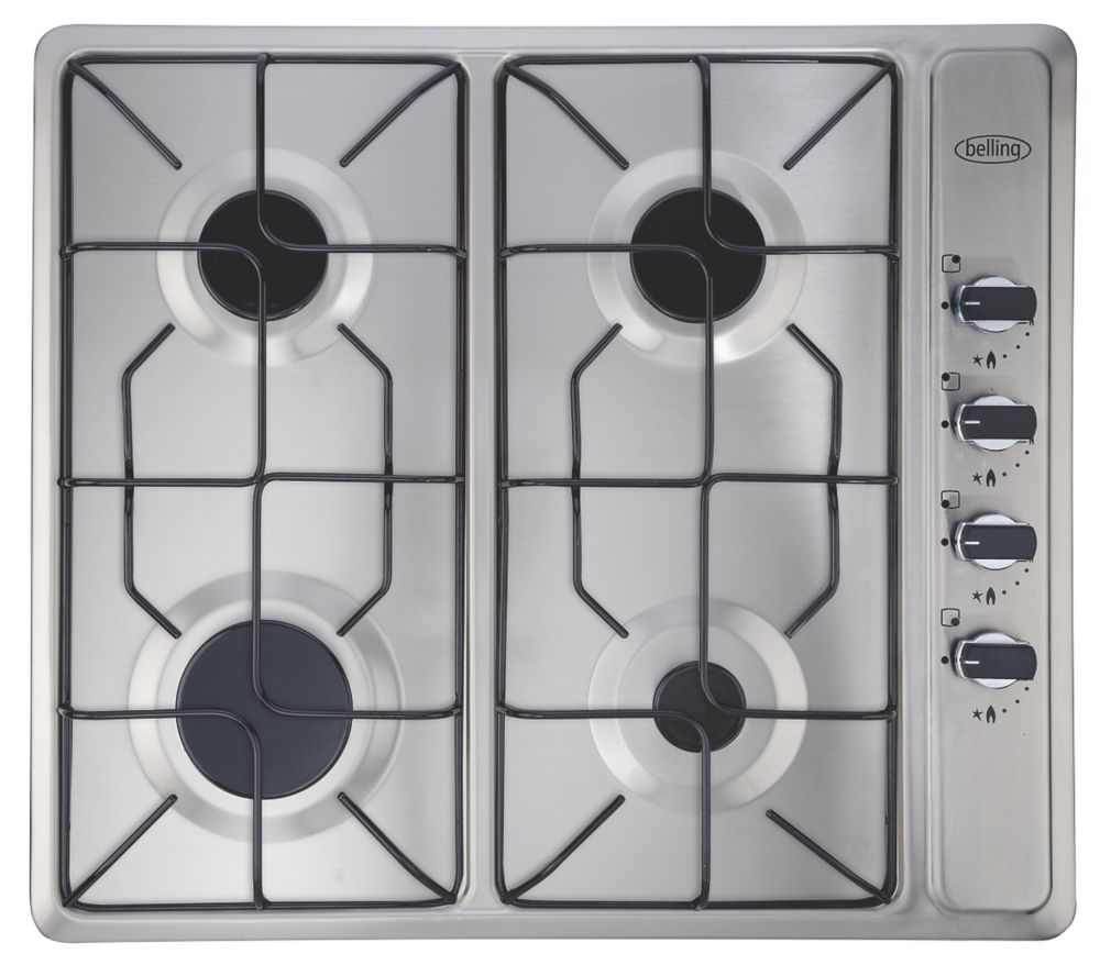 Image of Belling 444449465 Gas Hob Stainless Steel 40 x 580mm