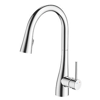 Cooke and Lewis Pull-Out Spray Mono Mixer Kitchen Tap Chrome ...