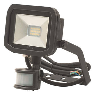 Image of Luceco Guardian LED Floodlight & PIR Black 8W Cool White