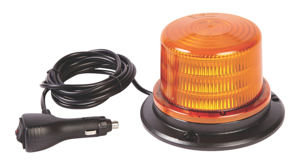 Image of Ring Amber Magnetic Compact Amber LED Beacon 18W 96mm