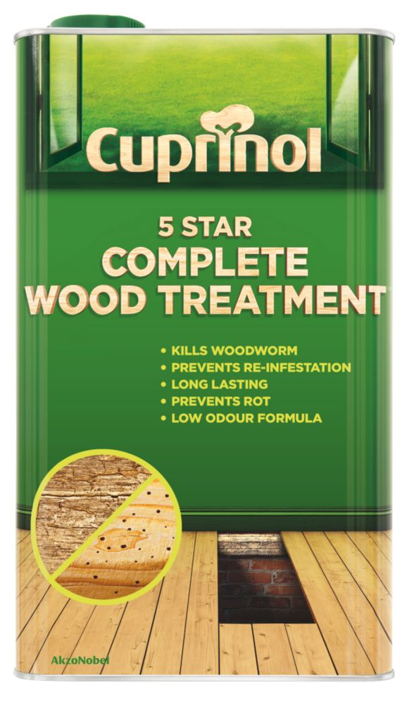 Image of Cuprinol 5 Star Complete Wood Treatment Clear 5Ltr