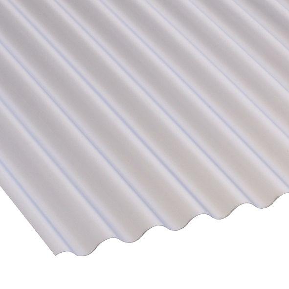 Image of Corolux Mini-Corrugated PVC Sheet Translucent 2440 x 662mm
