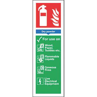 Image of Nite-Glo Dry Powder Extinguisher Sign 300 x 100mm