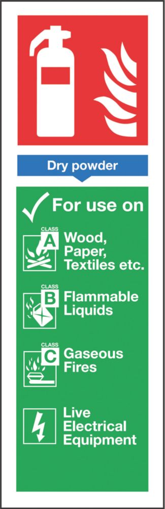 Image of Nite-Glo Dry Powder Extinguisher Sign 300 x 100mm