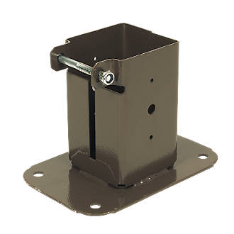 Image of Sabrefix Bolt-Down Post Supports 75 x 75mm 2 Pack