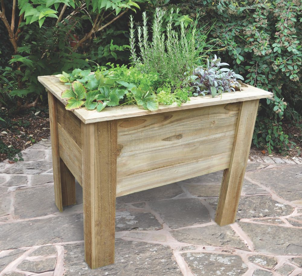 Image of Forest Rectangular Deep Root Planter 1000 x 700 x 798mm