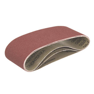 Image of Triton Alox Sanding Belts Unpunched 406 x 64mm 80 Grit 3 Pack