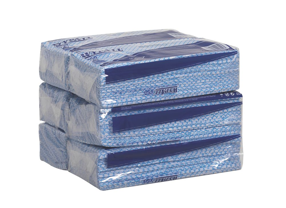 Image of Kimberly-Clark Professional Wypall X50 Cleaning Cloths Blue 6 Pack