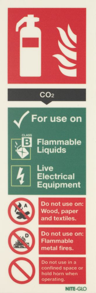 Image of Nite-Glo CO2 Extinguisher Sign 300 x 100mm