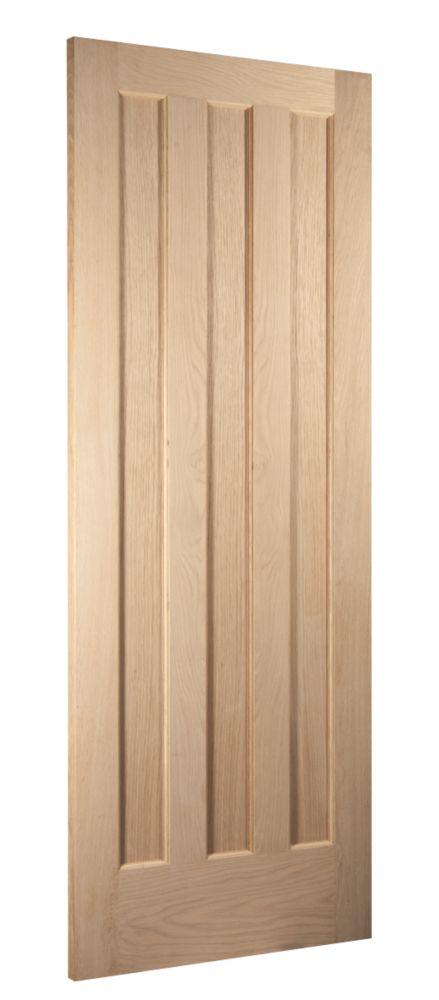Image of Jeld-Wen Aston 3-Panel Interior Door Oak Veneer 2040 x 726mm