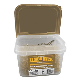 Image of Timbadeck Double-Countersunk Carbon Steel Decking Screws 4.5 x 75mm 500 Pack