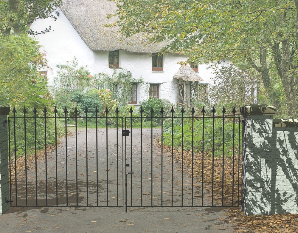 Image of Metpost Montford Double Gate Black 975 x 935mm 2 Pcs