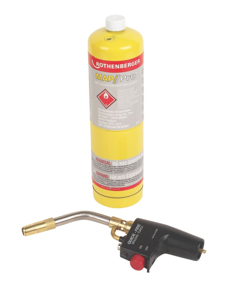 Image of Rothenberger Quick-Fire Torch MAP/Pro Gas Cylinder
