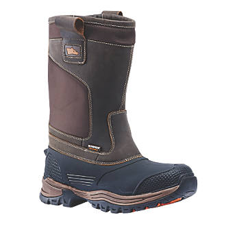 Image of Hyena Nevis Safety Rigger Boots Brown Size 10