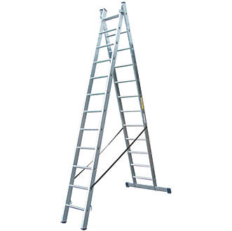 Image of Lyte 2-Section 3-Way Aluminium Combination Ladder 5.55m
