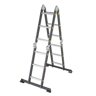 Image of TB Davies 4-Section Aluminium Folding Ladder 3.6m