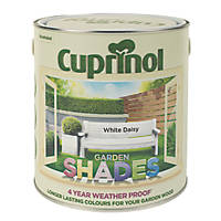 Cuprinol Garden Shades Exterior Wood Paint Matt White Daisy 2.5Ltr Part 66