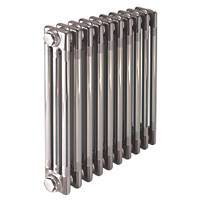 Acova  3-Column Horizontal Designer Radiator 600 x 1226mm Raw Metal